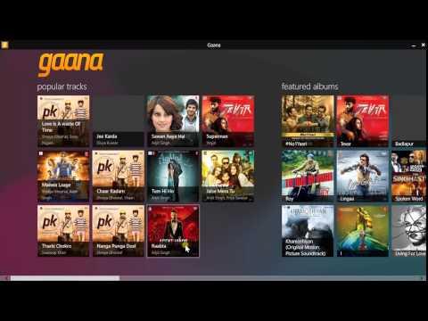 Gaana.com app on Windows 8.1 and Review