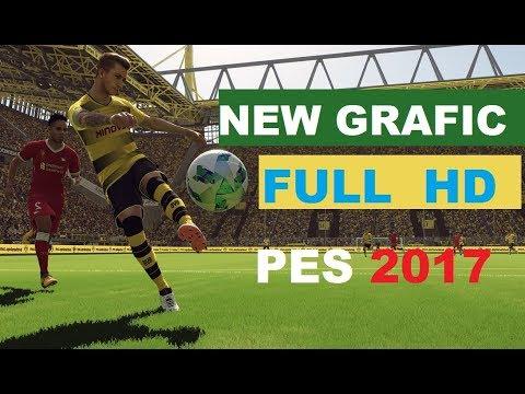 NEW GRAFIC FULL LOW MEDIUM AND HIGH HD FOR PES 17 - смотреть онлайн