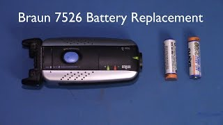 Braun 7526 Shaver Battery Replacement