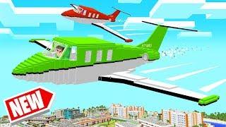 Playing A MINECRAFT FLIGHT SIMULATOR! (Dangerous)