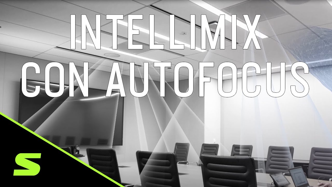 Microfone de teto MXA910 IntelliMix com Autofocus