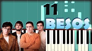Morat   11 Besos | Piano Tutorial  Cover | Partitura