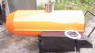 Автоматическая тепловая пушка на отработке 85 кВт