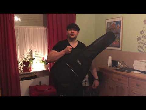 CAHAYA Gitarrentasche Gig Bag Oxford E-Gitarren Tragetasche Wasserdicht unboxing und Anleitung