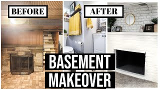 EXTREME BASEMENT MAKEOVER (plus new bathroom)