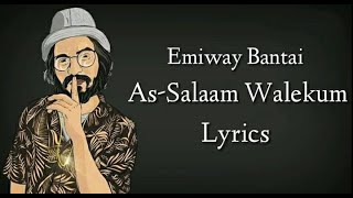 Emiway Bantai - As-Salaam Walekum (Lyrics) - YouTube