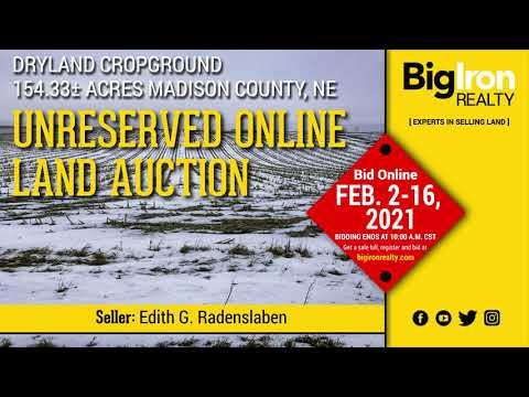 Land Auction 154.33+/- Acres Madison County, NE