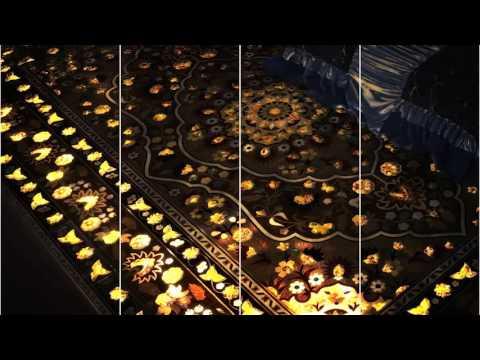 Tavolini Light carpet-паркетный ковер инкрустированный янтарем с 3D подсветкой.