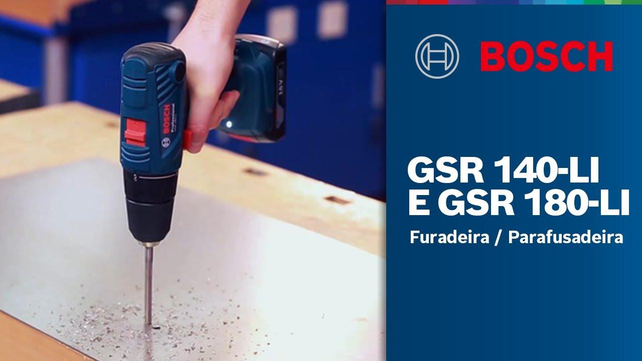 Furadeira / Parafusadeira a bateria GSR 140-LI e 180-LI