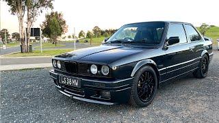 We take the V8 BMW E30 for a slide