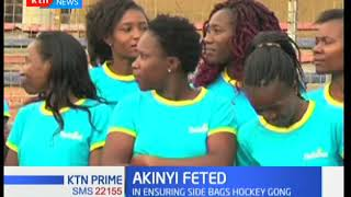 Telkom women hockey team goalkeeper Cynthia Akinyi bags SJAK player of the month for January