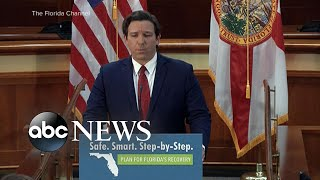 Florida's governor shares plan to get state on its feet l ABC News