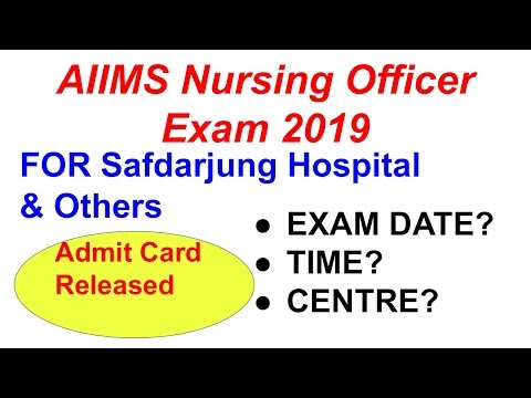 Admit Card Released for( Re-Exam for the post of Nursing