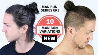 ✅ 10 Different Man Bun Styles - Men's Long Hairstyles