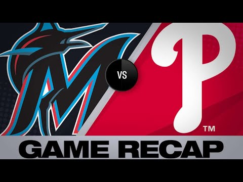 Marlins hit 3 HRs, complete series sweep | Marlins-Phillies Game Highlights 6/23/19