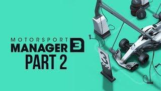 Motorsport Manager 3 Gameplay Walkthrough Part 2 - DRAMATIC WET RACE & NEW DRIVER