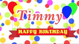 Happy Birthday Timmy Song