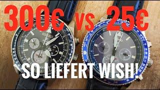 Seiko-Uhr für 25€? Wish gegen Original im Vergleich SSC609P1 vs Fake Review deutsch