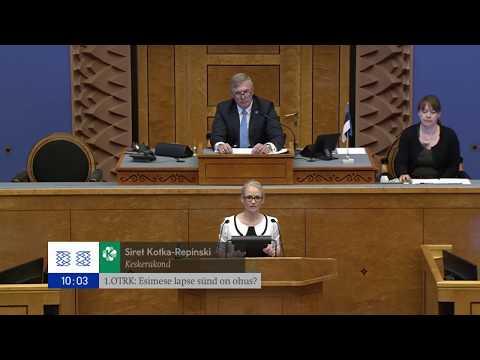 Riigikogu istung, 31. mai 2018