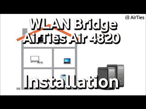 WLAN-Bridge - AirTies Air 4820 - Installation