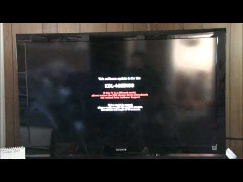 Sony Bravia KDL-46S5100 Software Update Tutorial