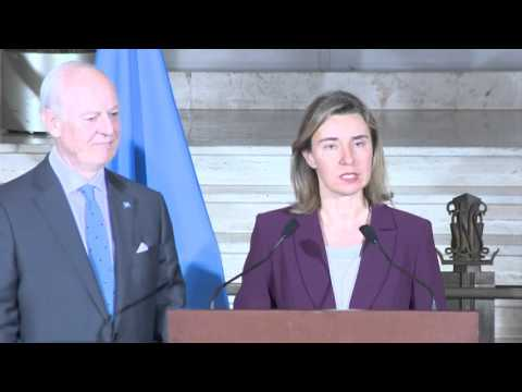 Joint statement by Mogherini  and Staffan DE MISTURA, Special Envoy of the UN for Syria