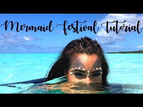 Mermaid Festival Makeup Tutorial Feat. Revlon Colorstay Creme Eyeshadow || WanderBlush