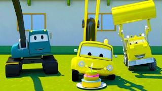 Строительная Бригада: Самосвал, Кран и Экскаватор строятМашина для изготовления тортов