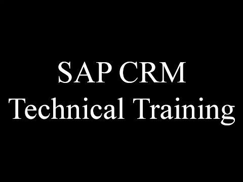 SAP CRM Technical Training (Video 1) | SAP CRM ABAP | SAP ...