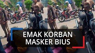 Viral Video Emak-emak Nangis Jadi Korban Bius Masker Gratis Bukan di Kota Semarang