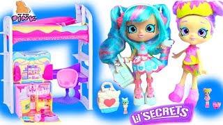 Куклы #Shopkins Lil Secrets Dolls на ПИЖАМНОЙ ВЕЧЕРИНКЕ в СПАЛЬНЕ Рейнбоу Кейт! Шопкинс Мультик