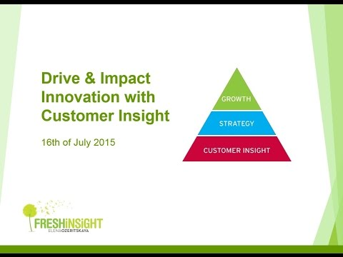 Drive & Impact Innovation with Customer Insight – Elena Ozeritskaya