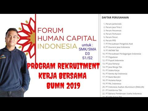 Informasi lowongan kerja BUMN terbaru | Rekruitmen kerja bersama BUMN 2019