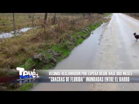 CHACRAS DE FLORIDA INUNDADAS ENTRE EL BARRO