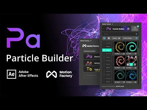 Particle Builder Plugin | Free After Effects Motion Factory