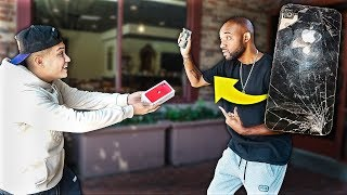 Breaking Strangers iPhone & Giving Them iPhone 11