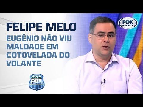 'FELIPE MELO NÃO FOI MALDOSO', diz Eugênio em lance de expulsão