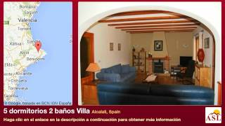 preview picture of video '5 dormitorios 2 baños Villa se Vende en Alcalali, Spain'
