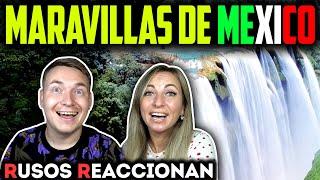 🇷🇺RUSOS REACCIONAN a 20 MARAVILLAS NATURALES de MÉXICO 🇲🇽| Reacción a lugares mexicanos
