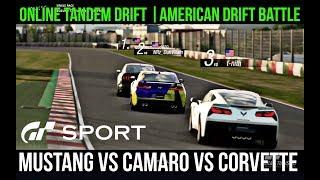 Gran Turismo Sport: Online Drifting | AMERICAN DRIFT BATTLE! (GT Sport)