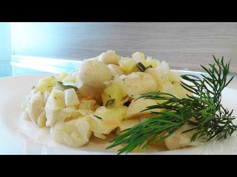Салат из шампиньонов с картофелем видео рецепт. Великий Пост.