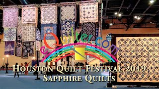 Luana Rubin presents the Sapphire Celebration at the 2019 Houston Quilt Festival.