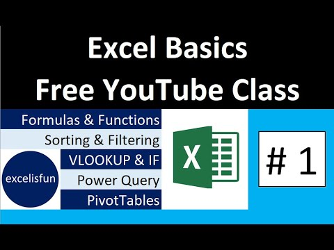 Free Excel Basics Course at YouTube - YouTube