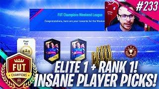 FIFA 19 MY ELITE 1 FUT CHAMPIONS & RANK 1 DIVISION 1 REWARDS! WE PACK INSANE PLAYER PICKS!