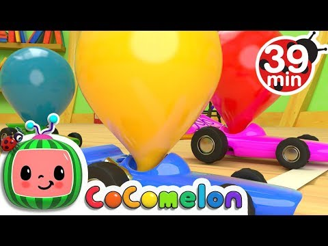 Toy Balloon Car Race | + More Nursery Rhymes & Kids Songs - ABCkidTV