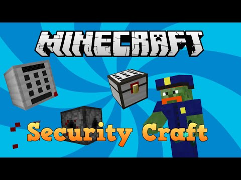 MINECRAFT | MOD SHOWCASE: SECURITY CRAFT - Keypads, Lasers, Locked Doors, Retinal Scanners and More!