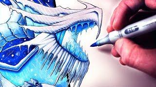 Lets Draw A SNOW DRAGON - FANTASY ART FRIDAY