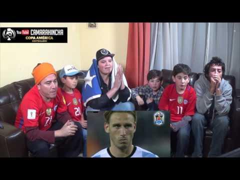 CHILE CAMPEÓN COPA AMERICA CENTENARIO 2016 / TANDA DE PENALES VS ARGENTINA REACCIÓN HINCHAS CHILENOS