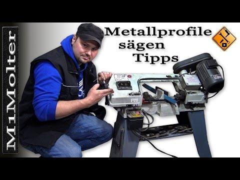 Metallprofile sägen. / Tipps von M1Molter