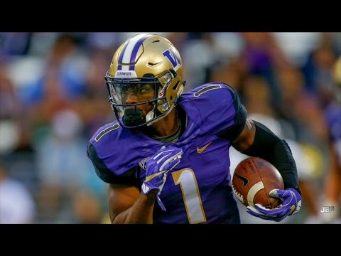 Fastest WR in College Football || Washington WR John Ross Highlights ᴴᴰ